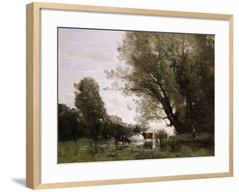 Pond's Edge in Normandy-Henry Thomas Alken-Framed Art Print