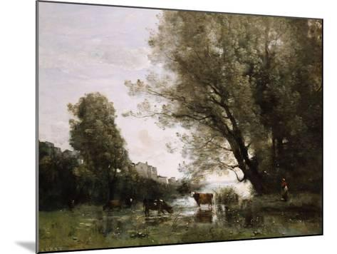 Pond's Edge in Normandy-Henry Thomas Alken-Mounted Giclee Print
