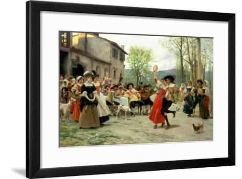 Silks and Satins at the Wedding Dance-Carl Frederic Aagaard-Framed Art Print