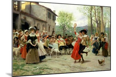 Silks and Satins at the Wedding Dance-Carl Frederic Aagaard-Mounted Giclee Print