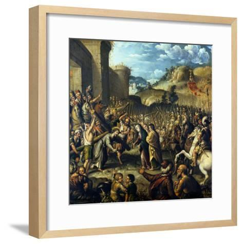 The Road to Calvary, 1638-Canaletto-Framed Art Print