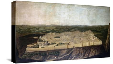 A Panoramic View of Jerusalem-Filipo Or Frederico Bartolini-Stretched Canvas Print