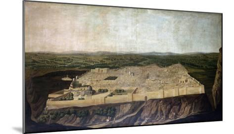 A Panoramic View of Jerusalem-Filipo Or Frederico Bartolini-Mounted Giclee Print