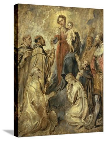 The Virgin and Child of the Rosary-Herri Met De Bles-Stretched Canvas Print