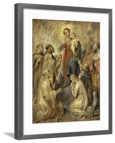 The Virgin and Child of the Rosary-Herri Met De Bles-Framed Art Print