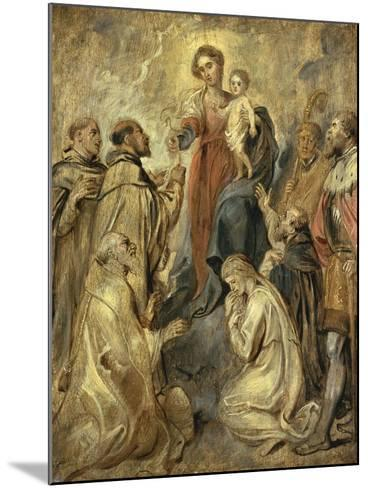 The Virgin and Child of the Rosary-Herri Met De Bles-Mounted Giclee Print