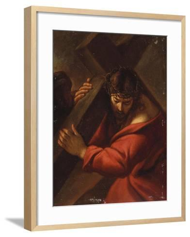 Christ on the Road to Calvary-Cecil Aldin-Framed Art Print