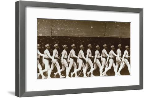 Chromophotograph of a Walking Soldier, 1886-Edward S^ Curtis-Framed Art Print