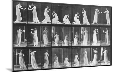 Human Locomotion: Females, 1887-Edward S^ Curtis-Mounted Giclee Print