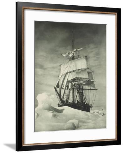 Terra Nova Icebound, British Antarctic Expedition, Circa 1910-Eugene Atget-Framed Art Print