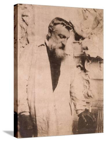 Portrait of Auguste Rodin,1905-Eugene Atget-Stretched Canvas Print