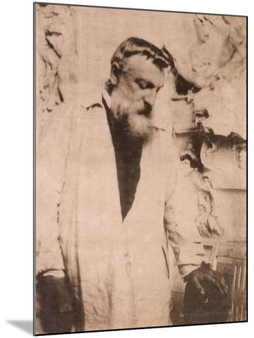 Portrait of Auguste Rodin,1905-Eugene Atget-Mounted Giclee Print