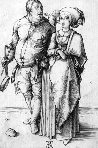 A Cook and His Wife, Circa 1496-Frank Cadogan Cowper-Stretched Canvas Print