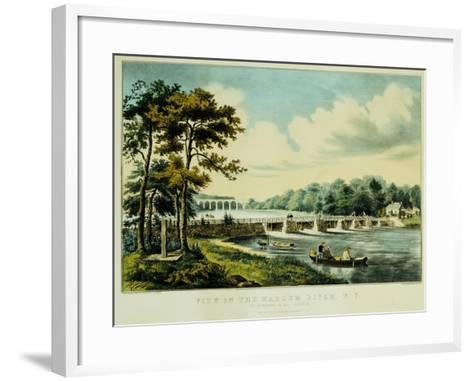 View on the Harlem River, N.Y., the Highbridge in the Distance, 1852-Mary Cassatt-Framed Art Print