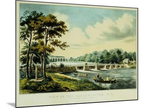 View on the Harlem River, N.Y., the Highbridge in the Distance, 1852-Mary Cassatt-Mounted Giclee Print