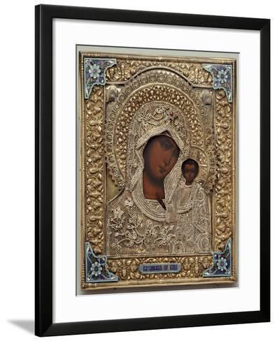 An Enamel and Silver-Gilt Icon of the Virgin Kazanskaya, the Oklad Marked Moscow, 1899-1908--Framed Art Print