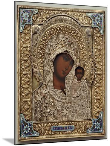 An Enamel and Silver-Gilt Icon of the Virgin Kazanskaya, the Oklad Marked Moscow, 1899-1908--Mounted Giclee Print