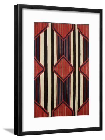 A Classic Navajo Chief's Wearing Blanket, 19th Century--Framed Art Print