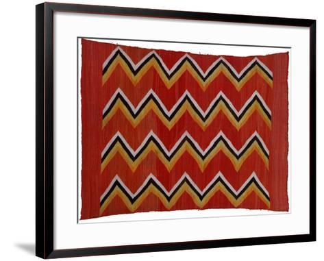 A Navajo Transitional Wedgeweave Blanket--Framed Art Print