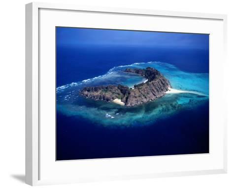 Waier Island in the Murray Island Group, Torres Strait Islands, Waier Island, Queensland, Australia-Oliver Strewe-Framed Art Print