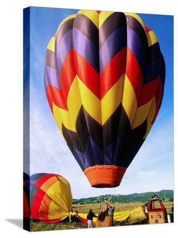 Balloon Landing, Napa Valley, California-John Elk III-Stretched Canvas Print