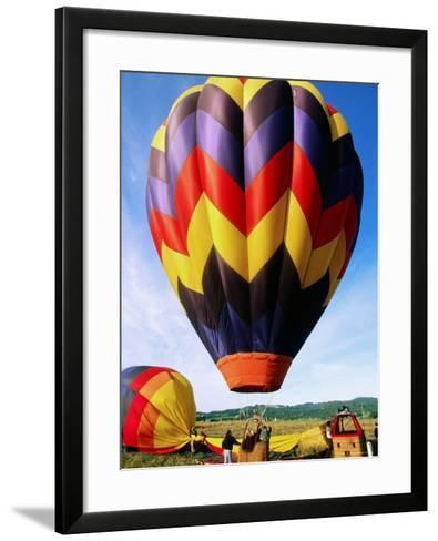 Balloon Landing, Napa Valley, California-John Elk III-Framed Art Print