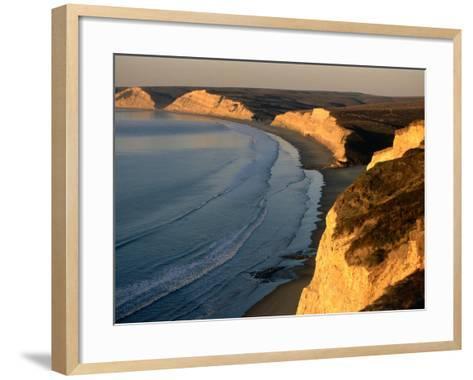 Drakes Beach and the Cliffs at Sunrise, Point Reyes National Seashore, California-John Elk III-Framed Art Print