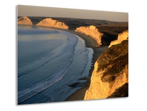 Drakes Beach and the Cliffs at Sunrise, Point Reyes National Seashore, California-John Elk III-Metal Print