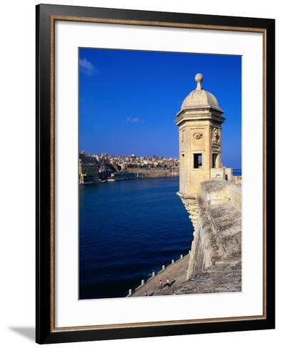 The Vedette at Senglea Overlooking the Grand Harbour, Valletta, Malta-Michael Gebicki-Framed Art Print