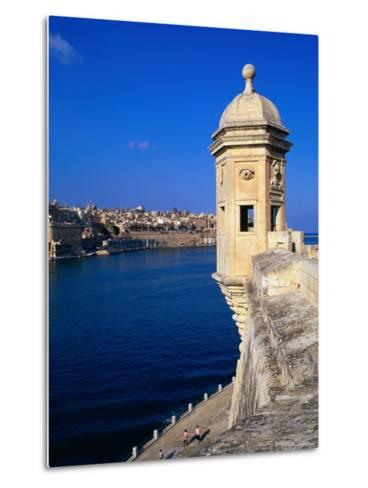 The Vedette at Senglea Overlooking the Grand Harbour, Valletta, Malta-Michael Gebicki-Metal Print