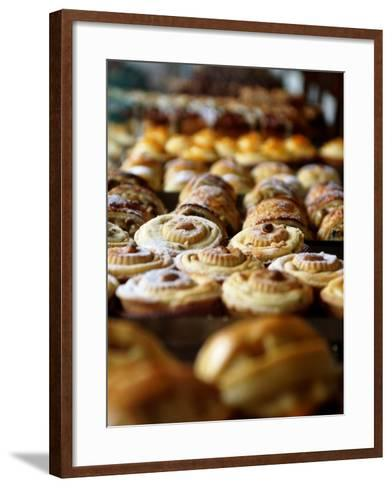 Desserts at Brunetti's, Melbourne, Victoria, Australia-Greg Elms-Framed Art Print