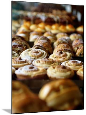 Desserts at Brunetti's, Melbourne, Victoria, Australia-Greg Elms-Mounted Photographic Print