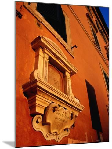 Late Afternoon Glow on Building in Trastevere, Rome, Italy-Glenn Beanland-Mounted Photographic Print