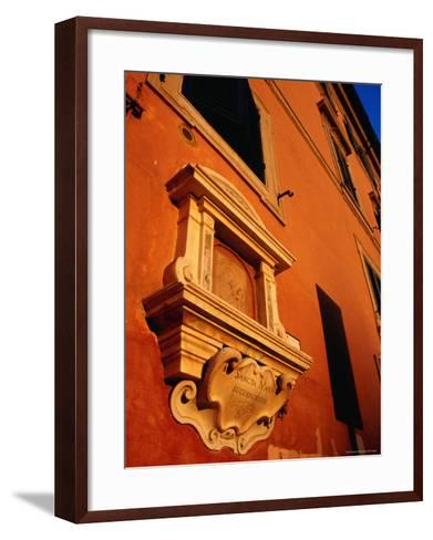 Late Afternoon Glow on Building in Trastevere, Rome, Italy-Glenn Beanland-Framed Art Print