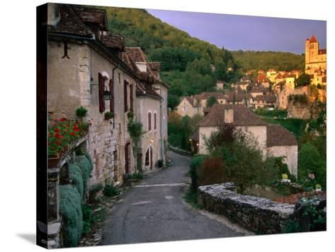 Street Scene, St. Cirq Lapopie, Midi-Pyrenees, France-John Elk III-Stretched Canvas Print