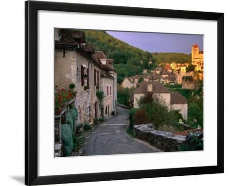 Street Scene, St. Cirq Lapopie, Midi-Pyrenees, France-John Elk III-Framed Art Print