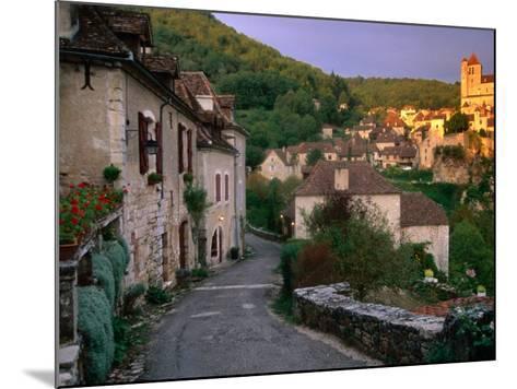 Street Scene, St. Cirq Lapopie, Midi-Pyrenees, France-John Elk III-Mounted Photographic Print