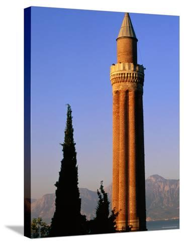 Grooved Minaret of Yivali Minari, Antalya, Turkey-John Elk III-Stretched Canvas Print