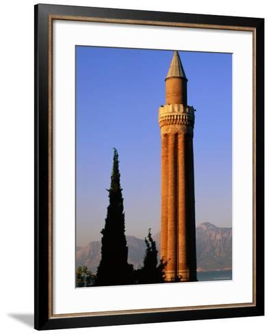 Grooved Minaret of Yivali Minari, Antalya, Turkey-John Elk III-Framed Art Print