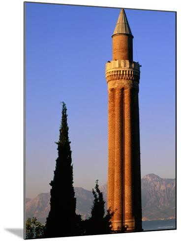 Grooved Minaret of Yivali Minari, Antalya, Turkey-John Elk III-Mounted Photographic Print