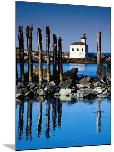 Coquille River Light, Bullards State Beach Park, Bandon, Oregon-Richard Cummins-Mounted Photographic Print