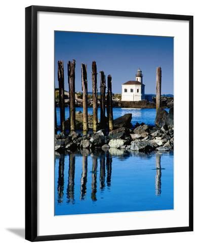 Coquille River Light, Bullards State Beach Park, Bandon, Oregon-Richard Cummins-Framed Art Print