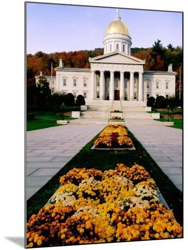 Flower Beds in Front of Vermont State Capitol, Montpelier, Vermont-John Elk III-Mounted Photographic Print