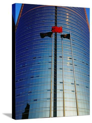 China Merchants Tower on Jianguomenwai Dajie, Beijing, China-Krzysztof Dydynski-Stretched Canvas Print