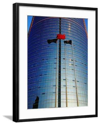 China Merchants Tower on Jianguomenwai Dajie, Beijing, China-Krzysztof Dydynski-Framed Art Print