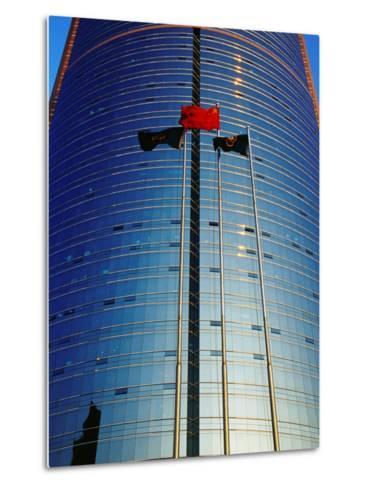 China Merchants Tower on Jianguomenwai Dajie, Beijing, China-Krzysztof Dydynski-Metal Print