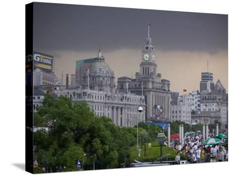 Storm Arriving on the Bund, Shanghai, China-Brent Winebrenner-Stretched Canvas Print