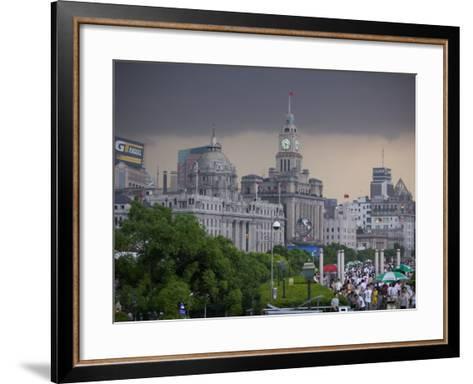 Storm Arriving on the Bund, Shanghai, China-Brent Winebrenner-Framed Art Print