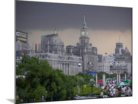 Storm Arriving on the Bund, Shanghai, China-Brent Winebrenner-Mounted Photographic Print