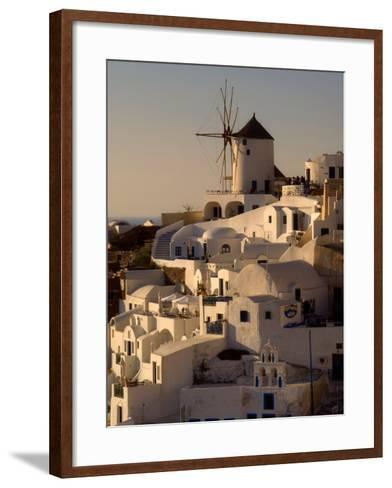 Restored Windmill Above Homes-Diana Mayfield-Framed Art Print